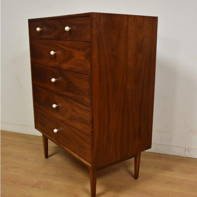 Kipp Stewart for Drexel Walnut Dresser - Image 4 of 7