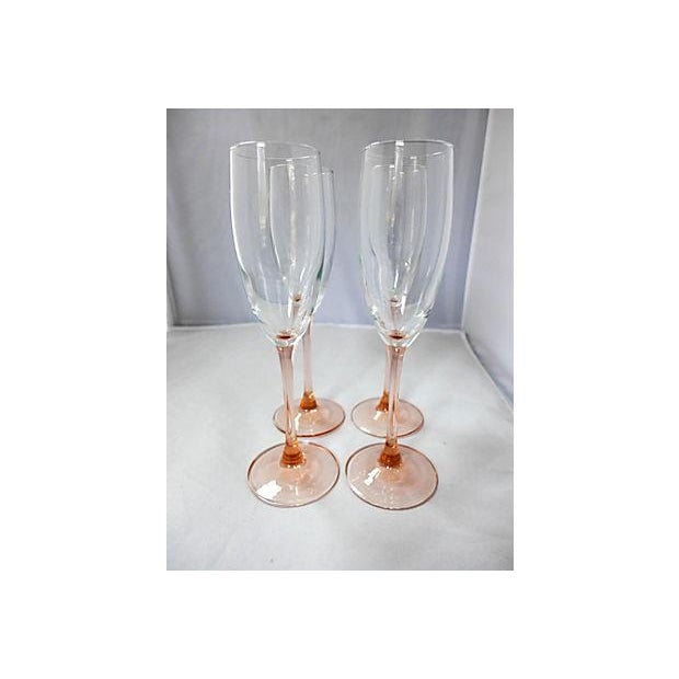 Pink Stem Champagne Glasses - Set of 4 - Image 2 of 7