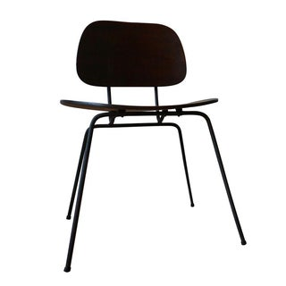 Mid-Century Wood & Steel Accent Chair