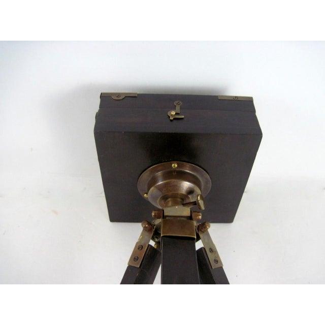 Image of Brass And Wood Tripod Replica 1800's Box Camera