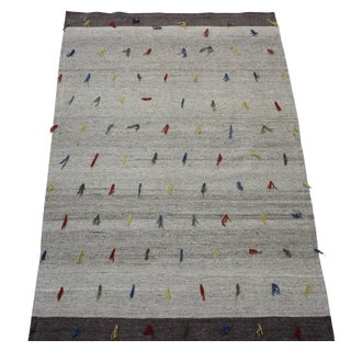 "Vintage Anatolian Handmade Kilim - 4'7"" X 6'10"""