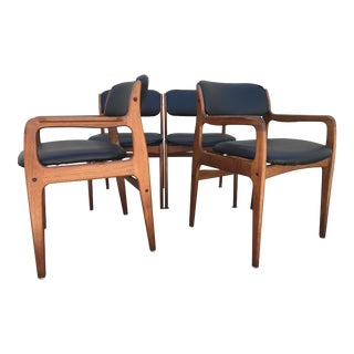 Mid-Century Modern Teak Dining Chairs - Set of 4