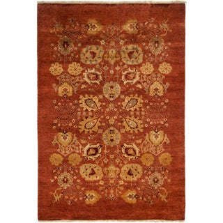 """New Ottoman Hand Knotted Area Rug - 5'2"""" x 7'7"""""""