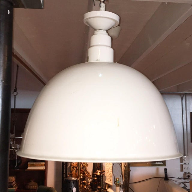 1960s Industrial White Pendant - Image 2 of 5
