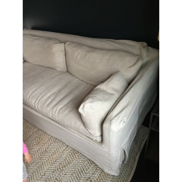 Restoration Hardware Track Arm Slip Cover Sofa Chairish