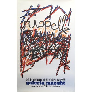 1975 Spanish Exhibition Poster, Riopelle at Galeria Maeght