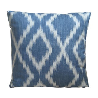 Blue & White Rombo Decorative Pillow