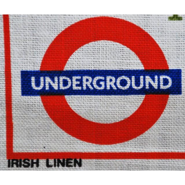 Vintage Harrod's London Underground Knightsbridge Tea Towel - Image 7 of 8