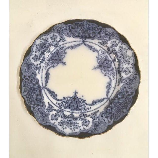 Antique Flow Blue Plates - Set of 6 - Image 3 of 6