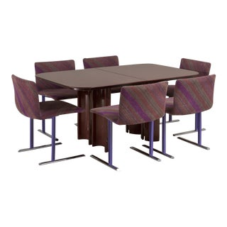 A Saporiti Designed Extendable Dining Table, 1990s