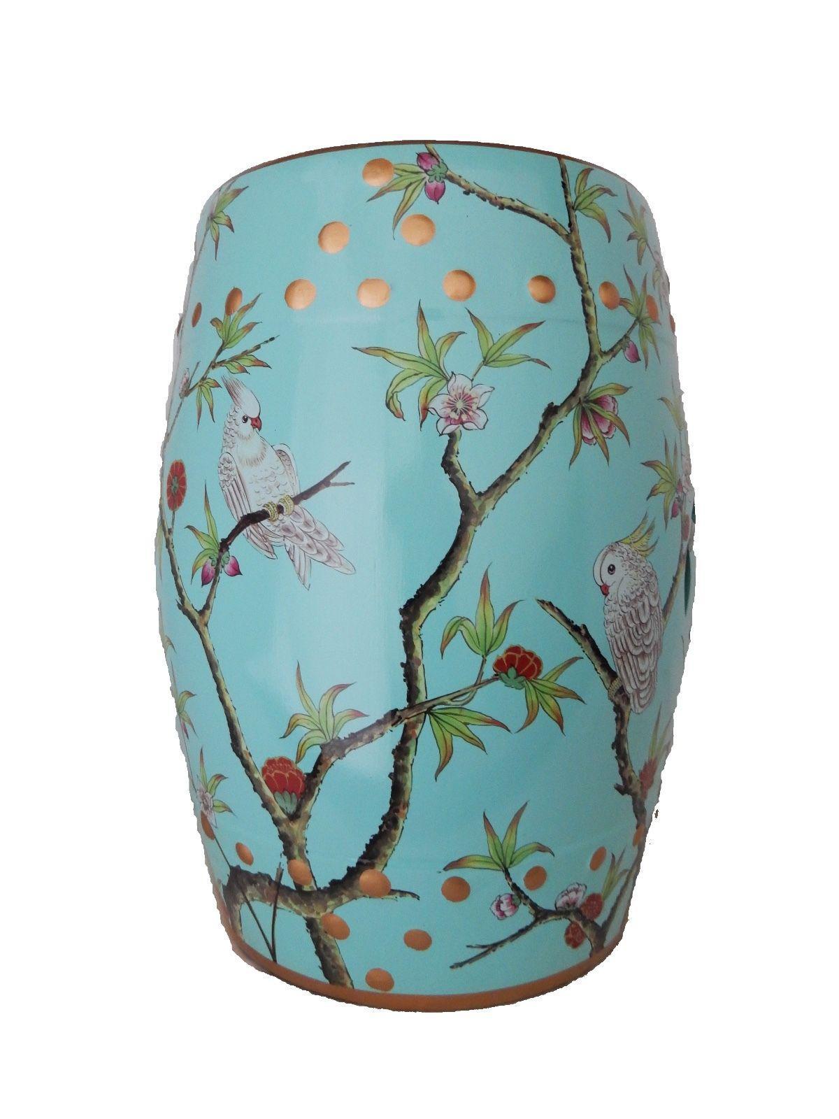 Turquoise Celadon Garden Stool - Image 3 of 6  sc 1 st  Chairish & Turquoise Celadon Garden Stool | Chairish islam-shia.org