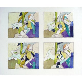 Abstract Jewel Study by Steve Hodges- Set of 4