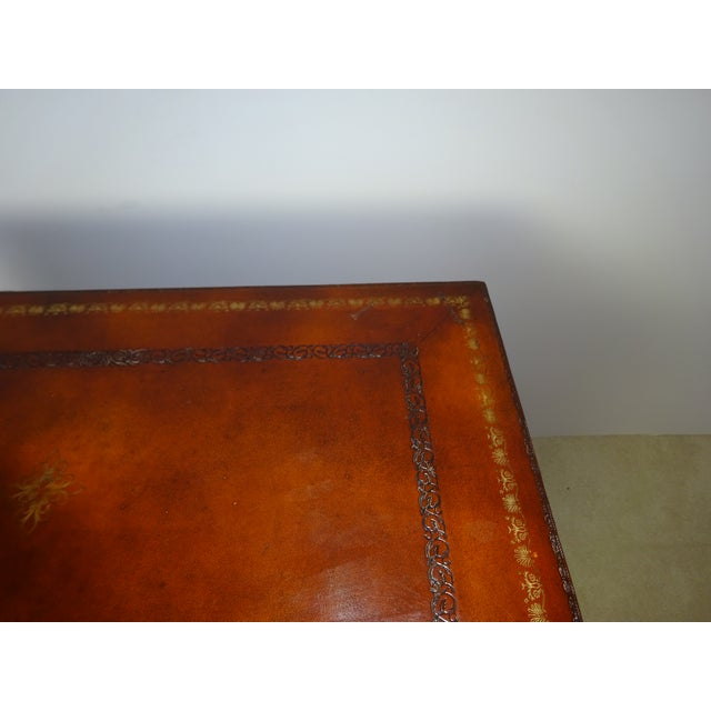 Maitland Smith Leather Faux Book Cabinet - Image 10 of 11