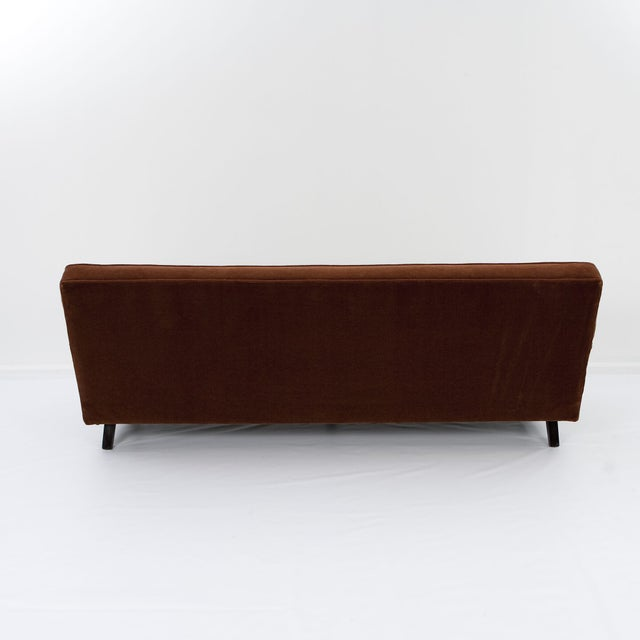 Image of George Nelson Cognac Mohair Sofa