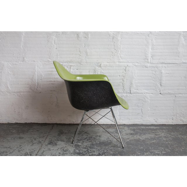 Vintage Green Eames Armchair on Modernica Base - Image 4 of 5