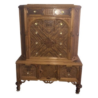 Antique 6 Drawer Armoire