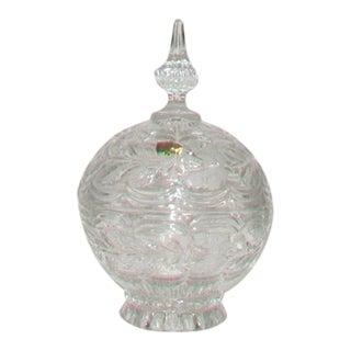 European Crystal Domed Lidded Dish