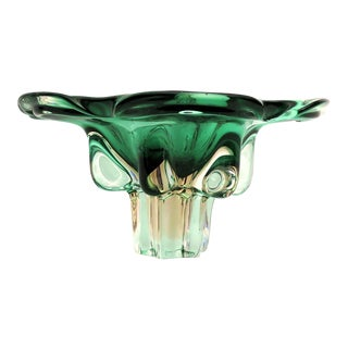1950's Emerald Green Murano Bowl