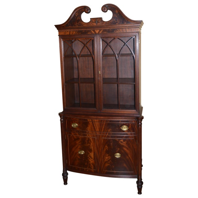 1930s Mahogany China Cabinet - Image 1 of 6