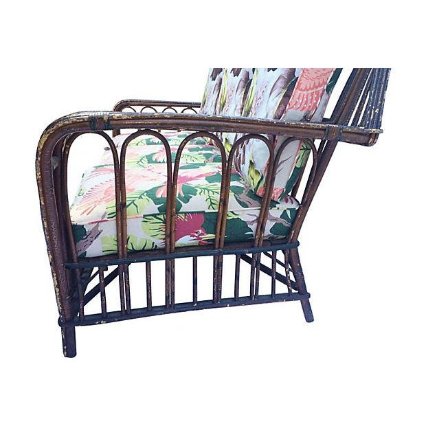 1930s Stick Wicker Deco Sofa & Chairs - Set of 3 - Image 6 of 6