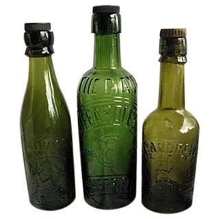 Antique English Beer Bottles - Set of 3
