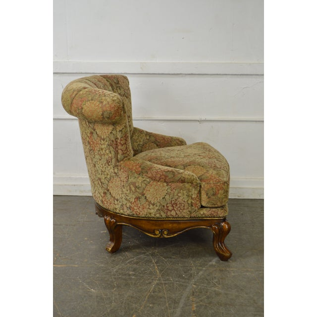 Schnadig Compositions French Louis XV Style Tufted Bergere Lounge Chair - Image 3 of 10