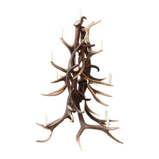 Red Stag Antler Tree-Shape Candelabra