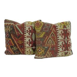 Vintage Turkish Kilim Pillows - A Pair