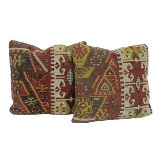 Vintage Turkish Kilim Pillows - A Pair