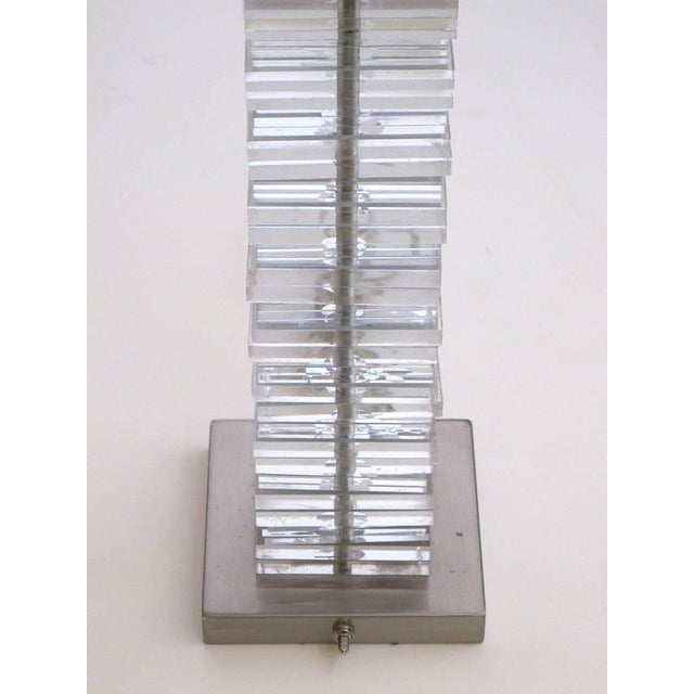 Image of A Good Pair of American 1970's Stacked Lucite Lamps