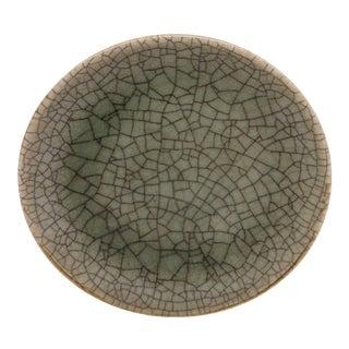 Small Decorative Celedon Crackle Plate