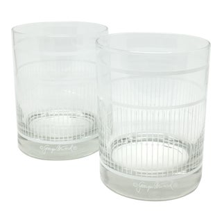 Vintage Georges Briard Bar Glasses - A Pair
