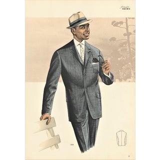 Mid-century Men's Fashion Print