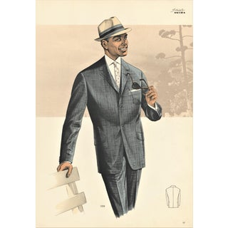 Mid-century Men's Fashion Print