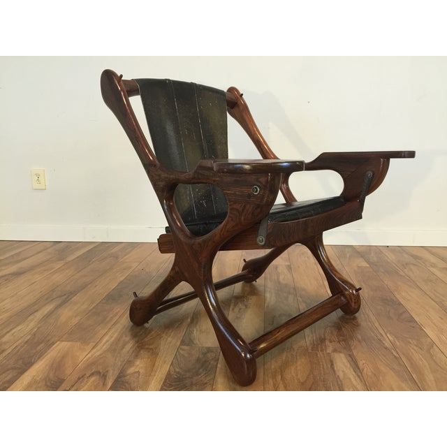 Don Shoemaker Studio Rosewood Swing Chair - Image 3 of 11