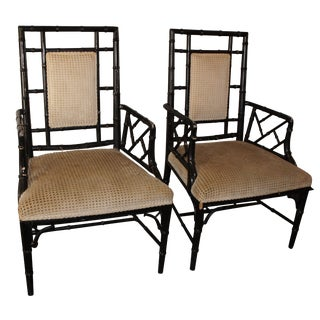 Upholstered Chippendale Chairs - A Pair