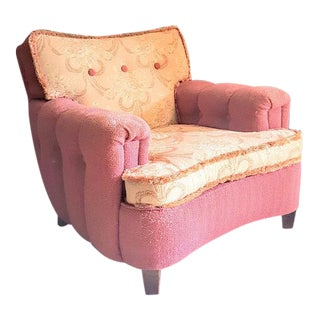 Shabby Chic Pink Floral Upholstered Armchair