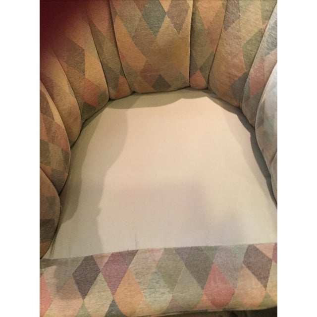 Image of 1950s Harlequin Channel Back Chair