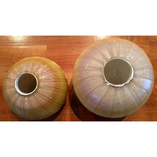 Round Maize Vases - A Pair - Image 3 of 4