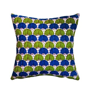 Fanfare Wax Print Pillows - a Pair