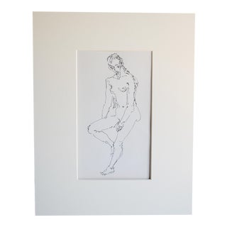 Mid Century Nude Drawing II by Paulina Jones Everitt
