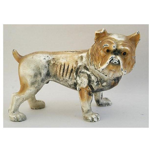 Cast Iron Bull Dog Bank/Door Stop - Image 2 of 8
