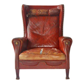 Leather Lounge Chair by Otto Schulz