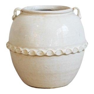 White Milk Ceramic Pottery Vase