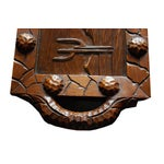 Image of Vintage Western Style Hand Carved Wood Tray