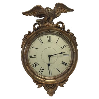 Vintage Federal Eagle Wall Clock