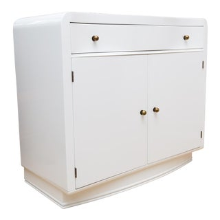 Mid-Century Lacquered Two-Door Cabinet