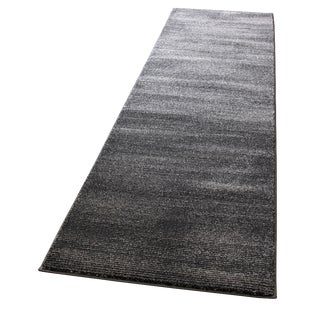 Black & Gray Stripe Runner - 3′ × 10′