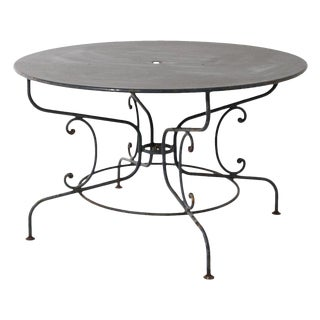 Large Mid Century French Garden Table