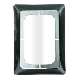 Mid Century Fontana D'Arte Green Frame Mirror